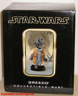 GENTLE GIANT 2004 STAR WARS (ANH) GREEDO COLLECTIBLE MINI BUST In Stock