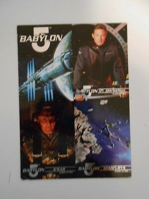 Babylon 5 series 1 rare four cards preview limited issued sheet 1990