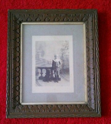Early 20th Century Gothic Antique Wooden Picture Frame Oak