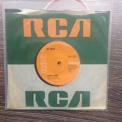 THE SWEET - 'Funny Funny' RCA UK copy pressing VINYL 45 Brian Connolly!