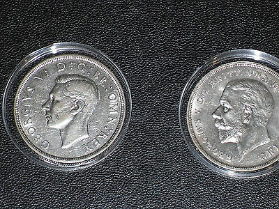 Two Historic Crowns 1935/37- George V and VI.  Uncirculated. Collector's Item.