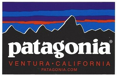New Authentic Patagonia Rectangle Sticker Decal Free Shipping