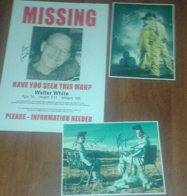 Breaking Bad. Walter White Wanted Poster & Signed Pictures.