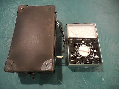 Vintage Bell System Ohm AC DC Meter Weston 668 With Case. Works!