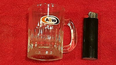 """VINTAGE AW ROOT BEER """"Baby Mug"""" 3.25 tall Heavy Glass"""
