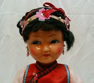 """Antique/ Vintage 10"""" Chinese Dressed Celluloid Doll"""