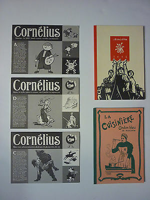 Éditions Cornélius : 3 Catalogues + L'Association : 2 Catalogues