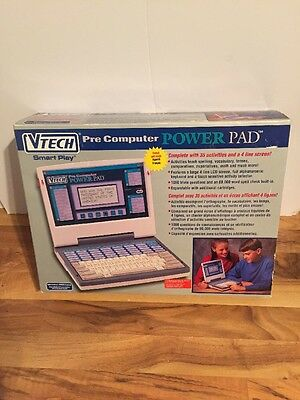 Vtech Pre Computer Power pad 1994. In Box With Booklets. French Version.