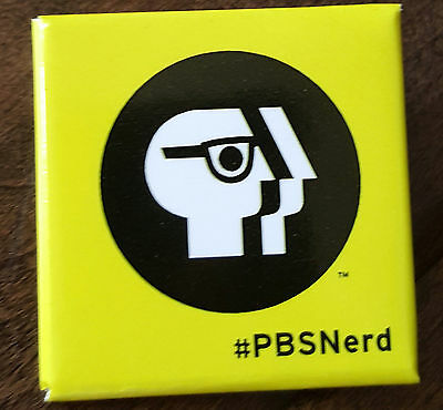 2015 Sdcc Comic Con Pbs Nerd #pbsnerd Promo Promotional Button Badge Pin