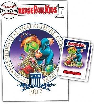 """Topps Comics GPK #2: """"2017 Presidential Inaug-Hurl Ceremony of Donald + Stickers"""