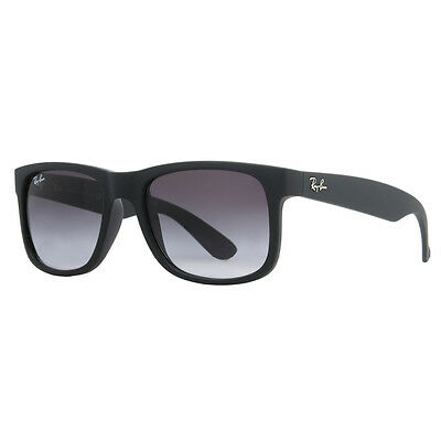 Ray Ban RB 4165 601/8G 54mm Justin Matte Black Grey Gradient Sunglasses