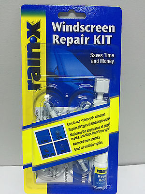 Rain X Rain-X Windscreen Repair Kit Windshield Wind Screen Diy Cracks Chips