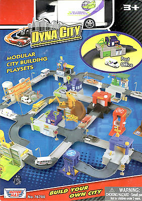 Motormax Dyna City Post Office With Global Express Van New In Box