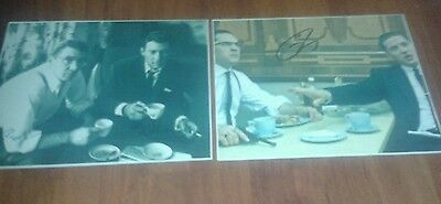 The Kray Twins. Signed Pictures. Set Of Two. Legend. Gangster. Hardy. Reg & Ron.