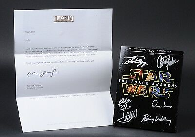 Star Wars The Force Awakens Blu Ray Autographed 1 Of 20