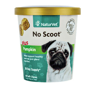 NaturVet NO SCOOT Plus Pumpkin Dog Soft Chew Healthy Glands 60 count