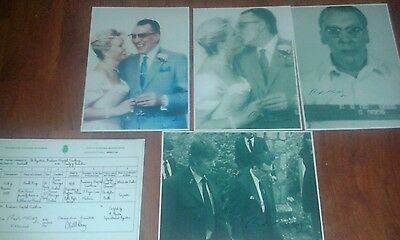 Ronnie Kray. 4 Signed Pictures & Marriage Certificate. Krays. Legend. Crime.