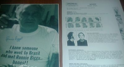 Ronnie Biggs Wanted Poster & Signed Picture. The Great Train Robbery. 1963.