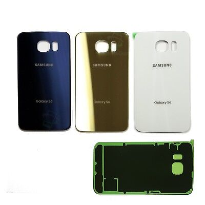 For Samsung Galaxy S6 OEM original grade Back Glass Rear Battery Cover w Tape