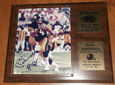 Neil O'donnell Autograph Pittsburgh Steelers Qb, 1996 Superbowl