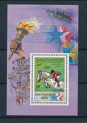[55663] Libya 1983 Olympic games Los Angeles Equestrian Horse MNH Sheet