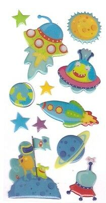 3D Epoxy Gel Stickers SPACE for Scrapbooking sticker Album school