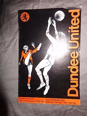 Dundee United v Standard Liege  U.E.F.A Cup 1st Round 2nd Leg 1978