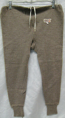 Vintage GANSON Empire Made 100% Pure Wool Long Johns Size 40 EUC