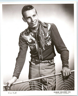 1950's TOM HALL Vintage FABOR RECORDS Publicity Photo COUNTRY MUSIC