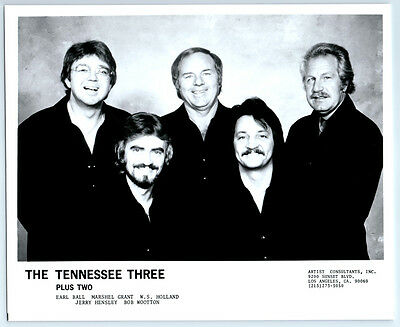 Vintage WS HOLLAND / TENNESSEE THREE Publicity Photo COUNTRY MUSIC / Johnny Cash