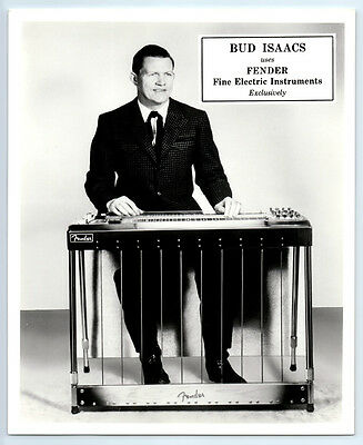 1950's BUD ISAACS Vintage FENDER STEEL GUITAR Publicity Photo COUNTRY MUSIC