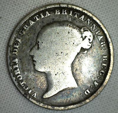 1840 UK Silver 6 Pence Sixpence Great Britain UK Coin Good G #P