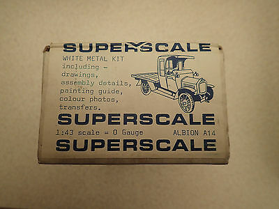 Rare Unmade Superscale O Gauge 1:43 Albion A14 Flatbed Lorry Kit Factory Sealed