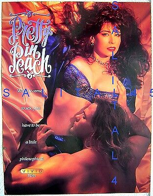 Slick Flyer Ad Christy Canyon Pretty In Peach Vivid Graphic Art Print Busty 1992