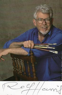 Authentic Signed Rolf Harris  6 X 4 Official Promo Card..real Signature..coa