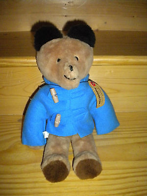 Vintage Eden Paddington Bear Plush Please Look After This Bear Blue Jacket 1975