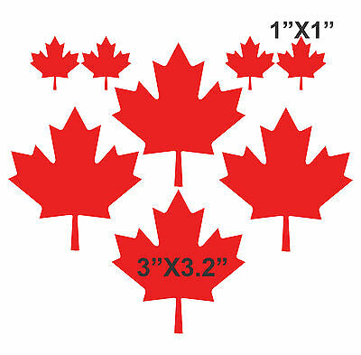 Set of 8 MAPLE LEAFS Vinyl Decal Sticker - Canadian Flag Car Truck Motorcycle