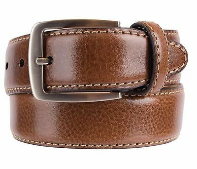 NIB Kirkland Signature Men's Italian Leather Full Grain Belt Brown Select Size