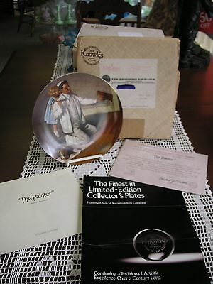 "NORMAN ROCKWELL PLATE ""The Painter"" 1983 Heritage Collection from EDWIN KNOWLES"