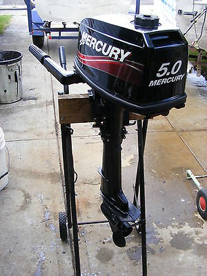 MERCURY 5 hp OUTBOARD MOTOR WITH SPARE FUEL TANK