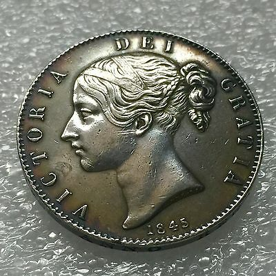 1845 Silver Crown Young Head Victoria Very High Grade