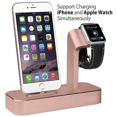 2 in 1 Charging Dock Station Bracket Cradle Stand Holder Charger For iPhone 7 6