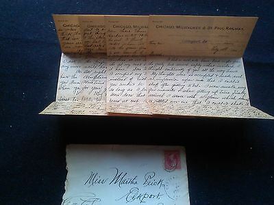 1900 Chicago, Milwaukee, St. Paul Railway LETTERHEAD 4 pages w/cover