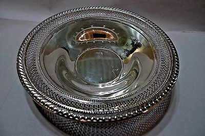 """Vintage Sterling Silver Pierced Candy Dish """"frank M.whiting Silver Co""""  **1940**"""