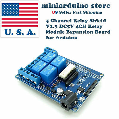 4 Channel Relay Shield V1.3 DC5V 4CH Relay Module Expansion Board Arduino xbee