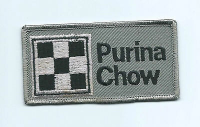 Purina Chow animal feed advertising patch 2 X 3-7/8 blue #1358