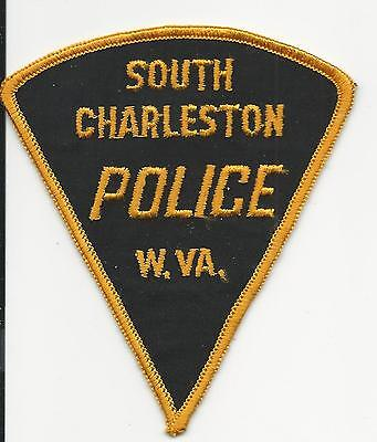 South Charleston Police WV West Virginia old triangle w/ cheese cloth back