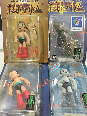 ASTRO BOY Lot, Medicom 6 Inch Atom Miracle Action Figure Tezuka (4 Pcs Set)