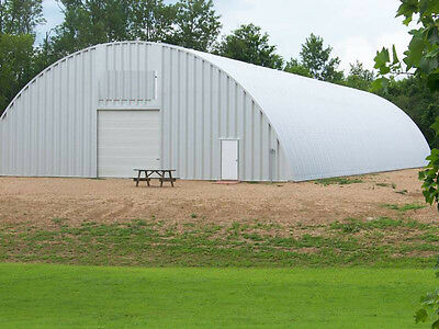 Steel Manufactured 70x200x24 Quonset Barn Farm Building Kit - with two doors