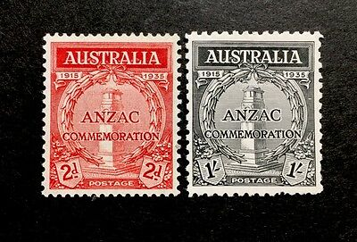 ASstamps Australia 1935 Anzacs Landing At Gallipoli Set MNH SC#150-151 CV$110+